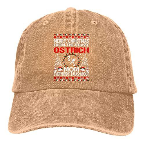Hoswee Baseballmütze Hüte Kappe Merry Christmas from Ostrich Mom Ugly Unisex Truck Baseball Cap Adjustable Hat Sandwich Peaked Caps Sun Hat