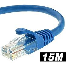 Cable de Ethernet 15metros–Soporta CAT6CAT5/CAT5E/Normas, 550MHz, 10Gbps–Cable de red RJ45Cable de ordenador cable de