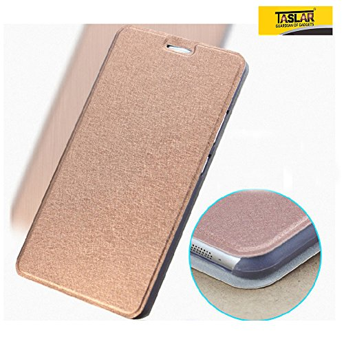 Taslar Leather Series Flip Cover Stand Case For Lenovo Phab PB1-750M 6.98 Inch Tablet (Gold)