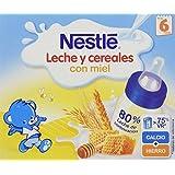 Nestlé Leche Y Cereales Con Miel A Partir De 6 Meses - Pack de 2 x 25 cl - Total: 0,5 l