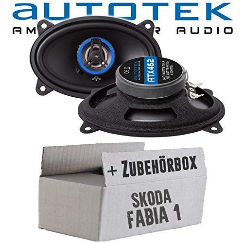 Lautsprecher Boxen Autotek ATX-462 | 2-Wege oval 10x15cm Koax Lautsprecher 4\'x6\' Auto Einbauzubehör - Einbauset für Skoda Fabia 1 6Y Kombi Combi Heck - JUST SOUND best choice for caraudio