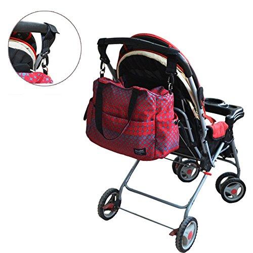 Wasserdichte multifunktionale Mama-Tasche, produziert Paket, Großraum-Reisetasche, Mehrzweck-Paket ( Farbe : Orange ) Blau
