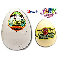 ‏‪JA-RU Easter Egg Toy Magic Grow Dinosaurs Hatching Eggs Toy 2 Pack (1 XXL and 1 Standard) Easter Party Toy for Boys and Girls Kids Party Favor Toy. Dino Eggs That Hatch. Bath Growing Toy #1747-2A‬‏