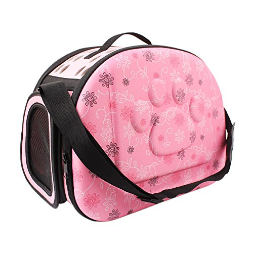 Boodtag Pet Carrier Travel Bag for Small Dogs and Cats Hard Cover Collapsable Portable Foldable Airline Approved