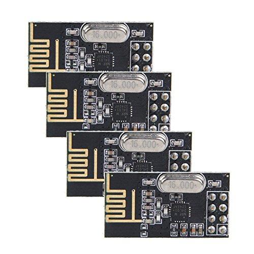 Amazon.es - 4pcs NRF24L01- 2.4GHz RF Wireless Transceiver Module