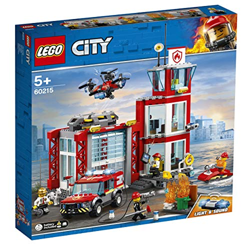 LEGO 60215 City Fire Station Building Set, Fire Toy Truck Water Scooter and Drone, Firefighter Toys for Kids Best Price and Cheapest