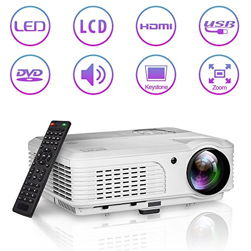 4200 Lumen Tragbarer HD-Projektor für Heimkino HDMI 1080P LCD LED Digitalprojektor mit eingebauten Lautsprechern USB VGA Audio AV für Android-Telefone iPad Apple TV PC DVD Xbox