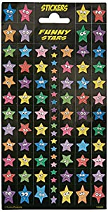 FUNNY PRODUCTS 100462 - Pegatinas 3D Funny Stars, Multicolor