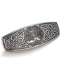 fishhookFishhook - Pasador para el pelo, diseño de nudo celta, hecho a mano, para mujeres y niñas, , ,  Gris (Antique Silver),, ]