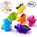DQTYE Weiche Kleine Dinosaurier Spritzt Badespielzeug Schwimm Bades Dinosaurier Spielzeug Nette Badewanne Dusche Jump Spiel Für Baby Kinder Kind (6 stück)