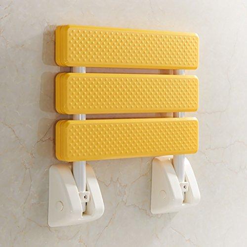 JXXDDQ Hocker mit abnehmbarem Blatt zur Wandmontage, Faltbarer Duschsitzstuhl, Faltbarer Badesitz for ältere Menschen, Schwangere und Behinderte, die EIN Bad nehmen möchten (Color : B) -