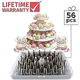 56 piezas con bandeja de almacenamiento con bisagras. Decorador de pasteles en acero inoxidable KitchenPRO.