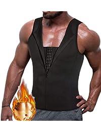 Reißverschluss Weste Body Shaper Männer Herren Trägershirt Kompression