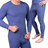 MT® Herren Thermowäsche Set Blau-XL