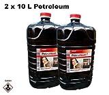 2 x Petroleum 10 L Liter Kanister für Petroleum Ofen Heizofen geruchsarm 20