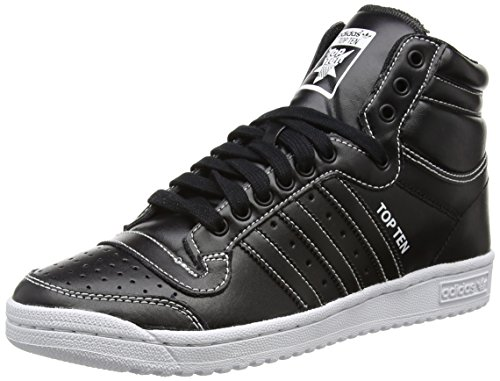 adidas OriginalsTOP TEN HI - Scarpe da Ginnastica Basse Uomo , Nero (Schwarz (Core Black/Core Black/Core Black)), 45 1/3