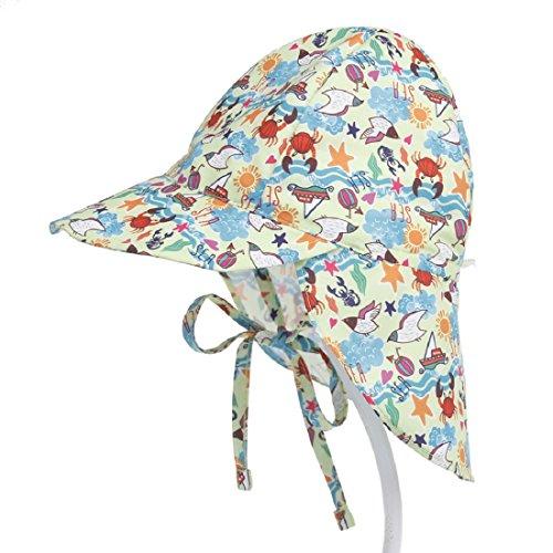 Boomly Niños Bebé Sombrero para El Sol UV50 + Proteccion Verano Pescar Sombreros Plegable Gorro De Playa con Ajustable Correa De La Barbilla Secado Rápido Gorra Exterior