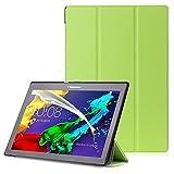 Lenovo Tab 2 A10 / Tab3 10 Plus / Tab3 10 Business Cover - Custodia con Funzione Auto Sveglia / Sonno per Lenovo Tab 2 A10-30 / A10-70 / Tab3 10 Plus / Tab3 10 Business 10.1' Tablet, Verde