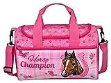 Scooli Sporttasche, Horse Champion, Turnbeutel, 35 cm, 8 L, Pink