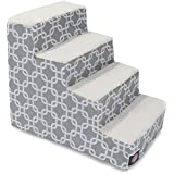 4 Step Portable Pet Stairs By Products Gray Links Steps For Cats And Dogs