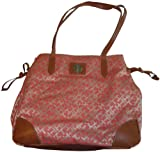 Women's Tommy Hilfiger Purse Handbag Tote Orange/Beige