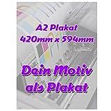 Fotodruck PapierPlakat DIN A2 Poster Plakat 420mm x 594mm individuell mit deinem Motiv selbst gestalten
