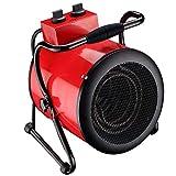 Homeleader Industrie Heizlüfter Elektroheizer, Elektroheizgebläse heizung mit Thermostat, Wasserdicht, 5000W, 400V