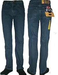 Mens Basic Straight Leg Regular Fit Jeans Inside Leg 27