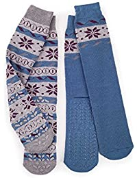 Totes Totes Mens Original Slipper Socks (Twin Pack) - Socquettes - Homme