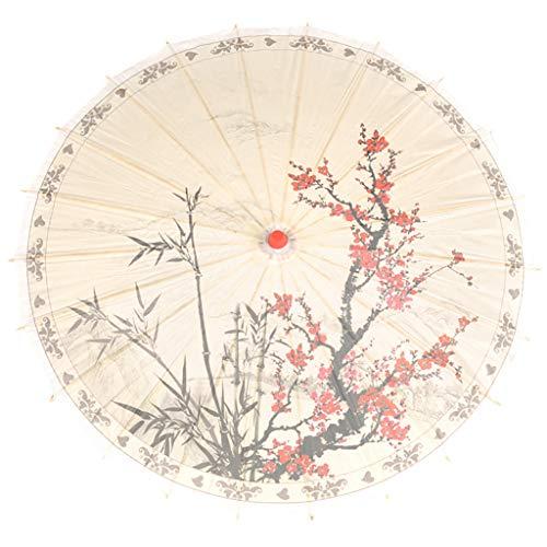 Japanisch Chinesisch Regenschirm Sonnenschirm für Hochzeit Regenfest Dekorative Öl Papier Regenschirm Sonnenschirm für Fotografie, Kostüme, Cosplay ()