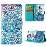 ToneSun Samsung Galaxy S10 Lite Hülle Case, Leder Filp Wallet Handyhülle Flipcase: 3D Malerei Multifunktionale Tasche Cover Brieftasche Schutzhülle in Totemblume