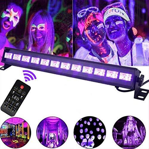 UV LED Beleuchtung, 36W 12LEDs UV LED Schwarzlicht Party Licht Lampe Strahler UV Lampe Fernbedienung DMX Steuerung Bühnenscheinwerfer Partylicht...