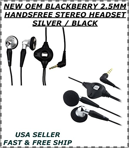 New OEM Blackberry 2,5mm Wired Stereo-Headset Handsfree 880088208830Schwarz Blackberry Wired Stereo Headset