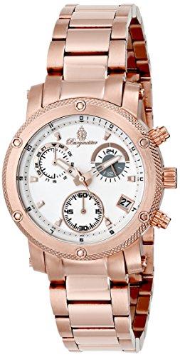 Burgmeister Tampico, Reloj de cuarzo para mujer, con correa de acero inoxidable, Rosado