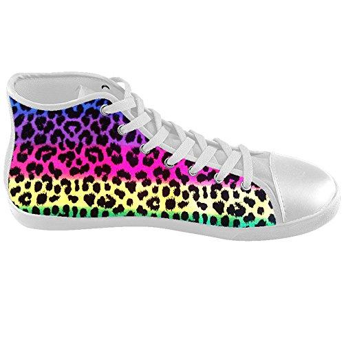 De Lona Zapatos Los Encargo Leopard Deporte De Zapatos De Impresión Zapatillas De E Calzado wZFxqX