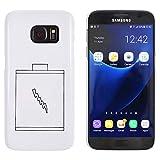 Azeeda Weiß 'Batterie' Hülle für Samsung-Galaxie S7 (MC00031716)