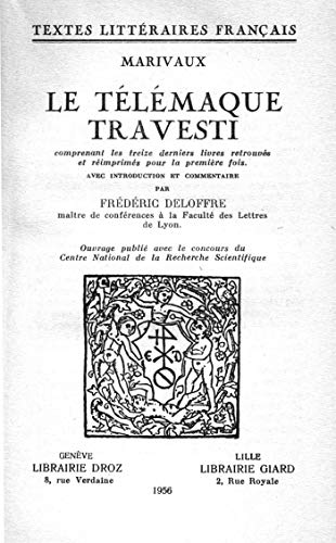 Couverture du livre Le Télémaque travesti