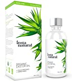InstaNatural Castor Oil - 100% Pure & Certified Organic for Hair, Face, Skin & Nails - Best Cold Pressed & Unrefined Moisturiser for Healthy Skin - Natural Conditioner for Dry & Damaged Hair - 120 ml