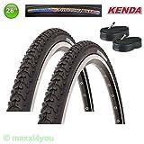 01022841K 2 x Kenda Krosscycle Fahrraddecke Reifen mit Schläuche - 28 x 1 5/8 x 1 3/8 700 x 35C