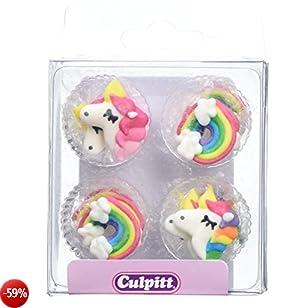 Unicorn Cake Decorations - 12 pack