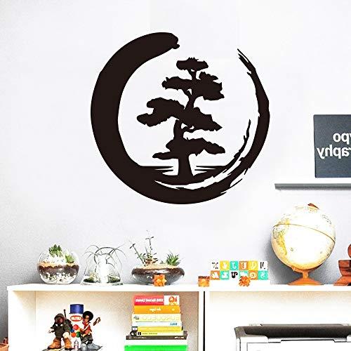 Mond Baum Muster Kreatives Design abziehbilder für Wohnzimmer Dekoration Wandaufkleber Wasserdicht Vinyl Kunst Aufkleber Wandbild 58x55 cm
