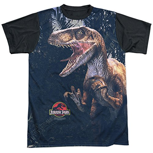 Adults Officially Licensed Jurassic Park Classic Dinosaur Movie Series Raptors T-shirt - S to XXXL
