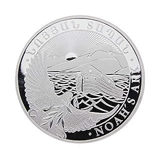LEV Silbermünze Armenien 2017 - Arche Noah - Noahs Ark - 5 Unzen (5 oz) - Unzirkuliert - einzeln in Münzkapsel verpackt