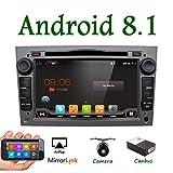 Android 7.1 4-Core 7'wifi Modelo GPS coche reproductor de DVD para Opel Astra Vectra Zafira Antara Corsa Radio Navegación estéreo Audio&vídeo Con Canbus Color Gris Apoyo Mirror Link/Subwoofer/OBD/DAB