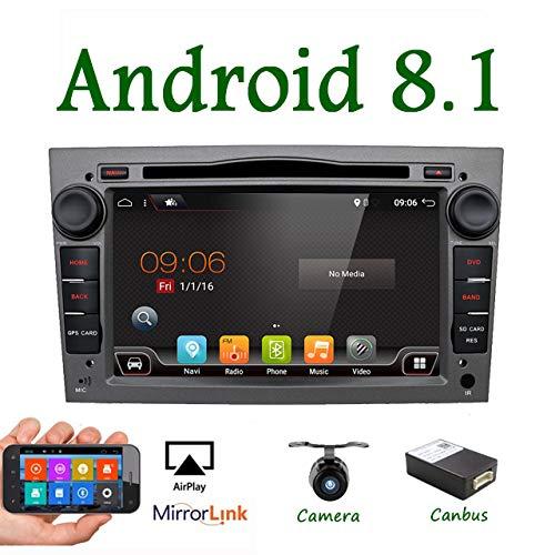 """Android 7.1 4-Core 7\""""wifi Modelo GPS coche reproductor de DVD para Opel Astra Vectra Zafira Antara Corsa Radio Navegación estéreo Audio&vídeo Con Canbus Color Gris Apoyo Mirror Link/Subwoofer/OBD/DAB"""
