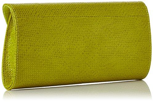 Swanky Swans Damen Mischa Faux Leather Clutch, 4.8x15.8x29.2 cm Grün (Lime)