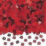 Amscan International 40-inch 40th Anniversary Confetti Metallic, Red