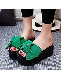 OME&QIUMEI Zapatillas Gruesas Desgaste Exterior Sandalias Verano Zapatos De Mujer Calzado De Playa 39 Sandalias...