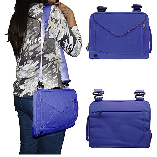 DMG Padwa Lifestyle Shockproof Soft Sleeve Pouch Carrying Envelope Bag canvas Case with Handle and Shoulder Strap for Samsung Galaxy Tab S SM-T805 Tablet (Blue)  available at amazon for Rs.899