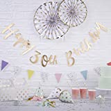 Ginger Ray Gold Designer Happy 30th Birthday Bunting Banner - Pick and Mix